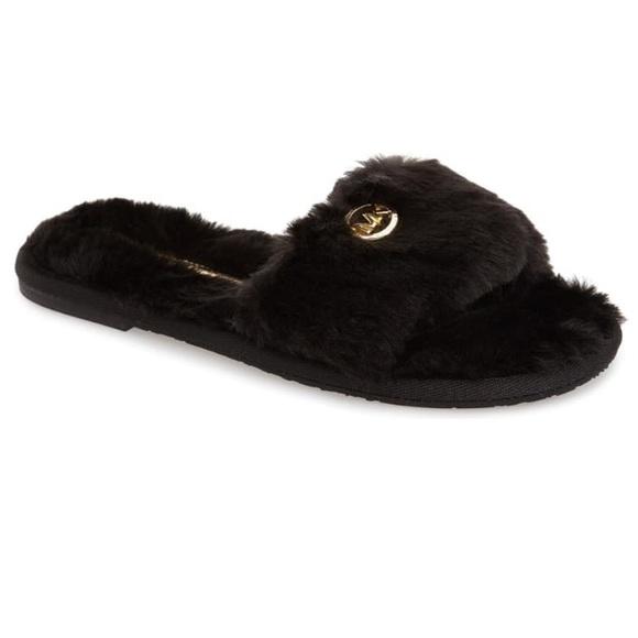 Michael Kors Faux Fur Slide Slipper
